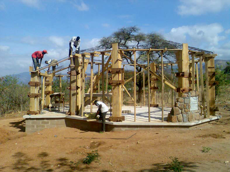 Preparation of formwork for RC Column Structure