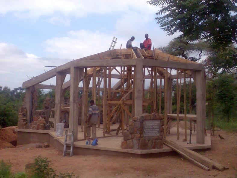 Final Preparation of Upper Roof beam Formwork